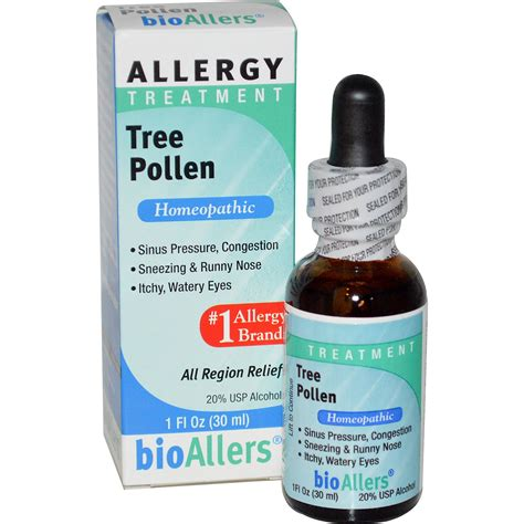 allergy remedies natrabio bioallers tree pollen allergy treatment 1 fl oz 30 ml iherb
