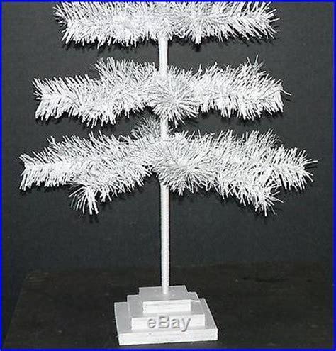 white christmas tree feather tinsel tabletop tree 36 white