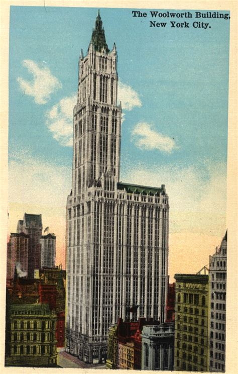 chrysler center nyc vintage postcard of woolworth building new york city a