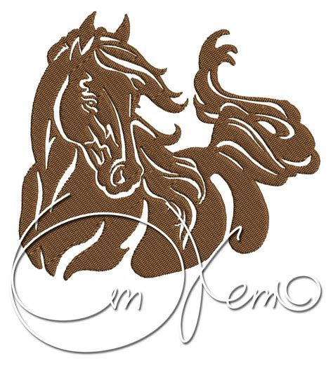 embroidery design horse machine embroidery file horse