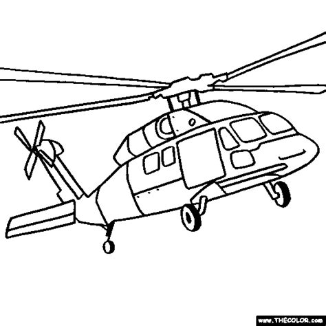 coloring page of helicopter helicopter and military chopper online coloring pages page 1