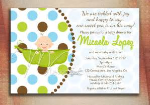 pea in a pod baby shower invitation baby in a pod by
