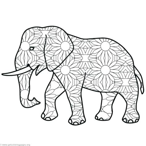 elephant color elephant mandala coloring pages at getcolorings free