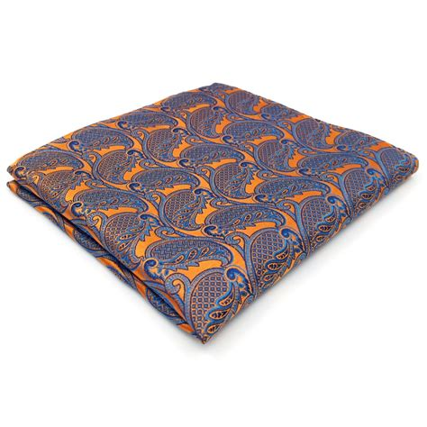 Silk Bigsize aliexpress buy paisley orange blue handkerchiefs hanky pocket square silk big size wedding