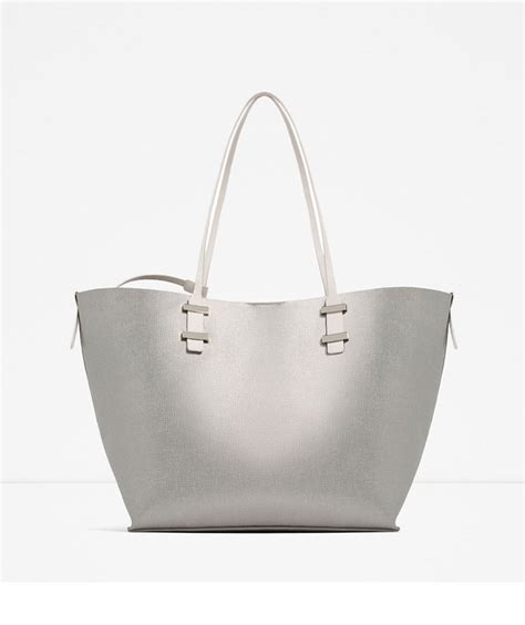 Zara Metallic Tote Bag 10 stylish school bags for college students real simple