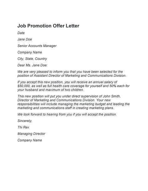 job promotion letters templates templatelab