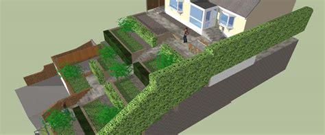 sloping garden design ideas uk steeply sloping garden design