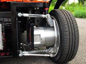 Electric Car With Ac Motor Wireless In Wheel Motor System Developed For Electric