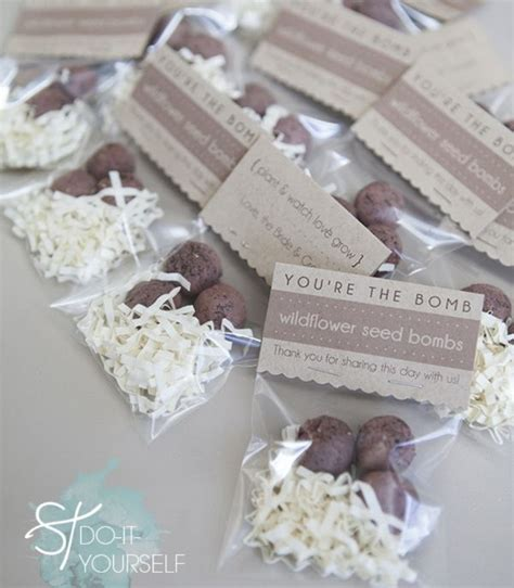 diy wedding favours diy seed bombs favors and wedding