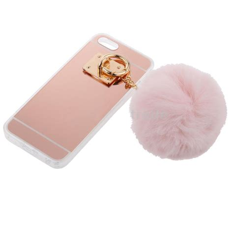 Mirror For Iphone 6 7 new fur acrylic mirror surface phone cover for