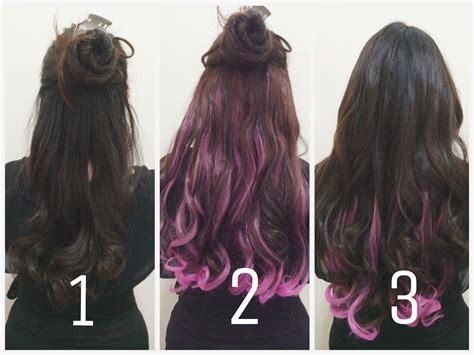tutorial ombre rambut ungu margarite jove july 2014