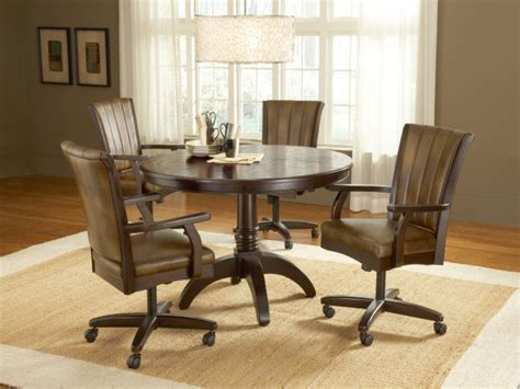 dining room sets with chairs on casters rolling dinette chairs casual dining room sets dining