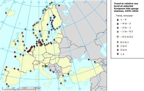 europe map with seas europe map with seas global and european sea level rise