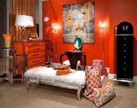 Bright Orange Room by Bright Orange Furniture Finds For A Vibrant Interior