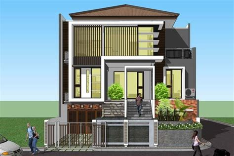 desain atap rumah 3 lantai hunian minimalis 3 lantai 9 kamar tidur tanah 11 215 15