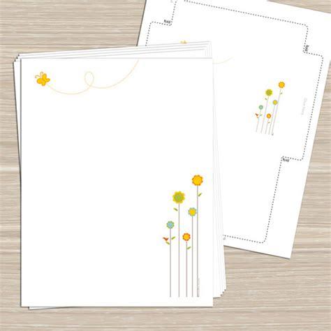 free printable stationery sets spring flowers printable stationery notecards tags sti