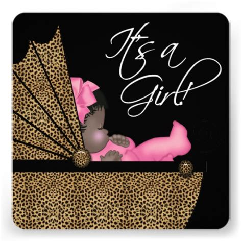 Pink Leopard Baby Shower by Baby Pink Leopard Baby Shower Invitation 5 25 Quot Square