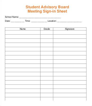 Meeting Sign In Sheet Template 13 Free Pdf Documents Download Free Premium Templates Event Sign In Sheet Template
