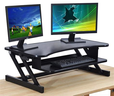 raised desk for standing top 10 best adjustable standing desks