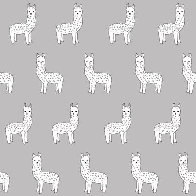 cute llama pattern alpaca grey alpacas cute alpaca fabric best llama
