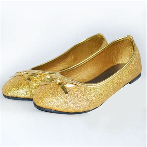 flat shoes gold 2016 toddler shoes gold glitter princess baby
