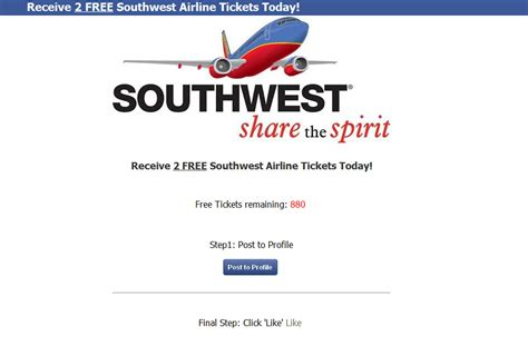Southwest Airline Free Ticket Giveaway - southwest airline flight ticket literaturemini ml