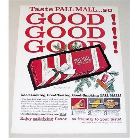 pall mall colors 1960 pall mall cigarettes color ad