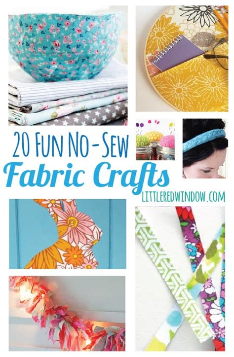 no sew craft projects 20 no sew fabric crafts window