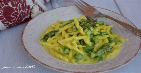 cucina giallo zafferano primi piatti ricetta primi piatti pasta cremosa agli asparagi