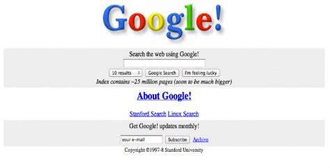 design google homepage first designs of world s biggest websites