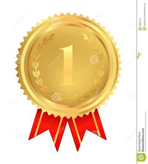 medalla de oro del primer lugar vector im 225 genes de