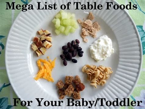 table foods for 10 month mega list of table foods for your baby or toddler your