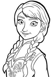 princess anna frozen colouring pages 2