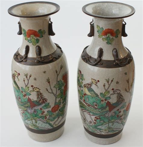 Ming Vases History by Two Large Ming Dynasty Style Porcelain Floor Vases