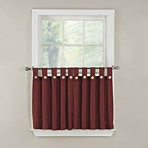 Tab Top Button Curtains Gpd Newport Button Tab Top Tier Curtain Pair 60 By 36 Inch Wine Window