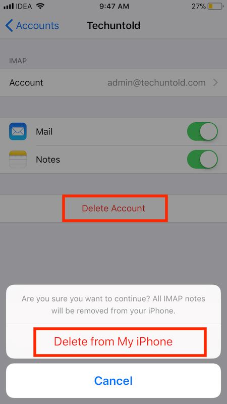 how to delete email accounts on the iphone how to add or delete email accounts on ios 11 from mail