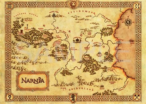 map of poster the chronicles of narnia map a3 poster print hal584 ebay