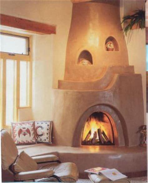 Kiva Style Fireplace by Kiva Fireplaces Teresa Dovalpage