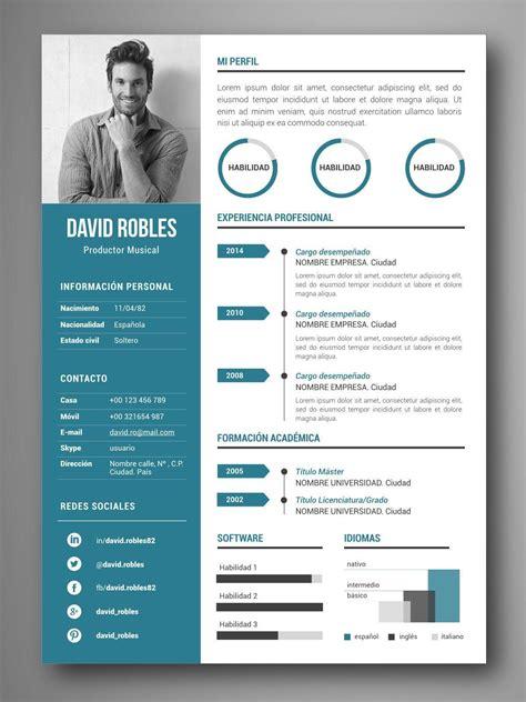 Plantillas De Curriculum En Ingles Word plantilla cv infografia vigo