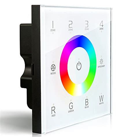 Dimmable Touch Led Light Rgb Base Ld 06s ledenet 174 dx8 rgbw wireless 2 4ghz dmx512 touch panel rf dimmer controller wall mounted 4 zones