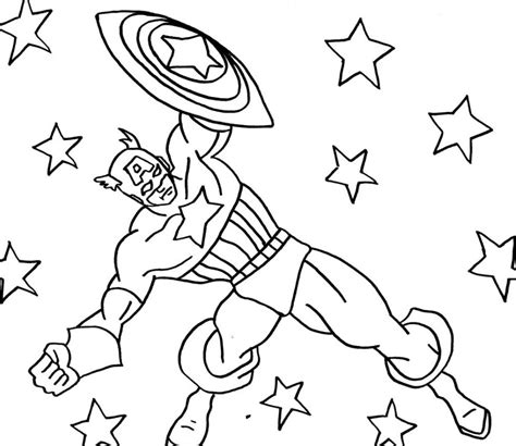 8 Free Cartoon Captain America Coloring Pages To Print Captain America Color Page