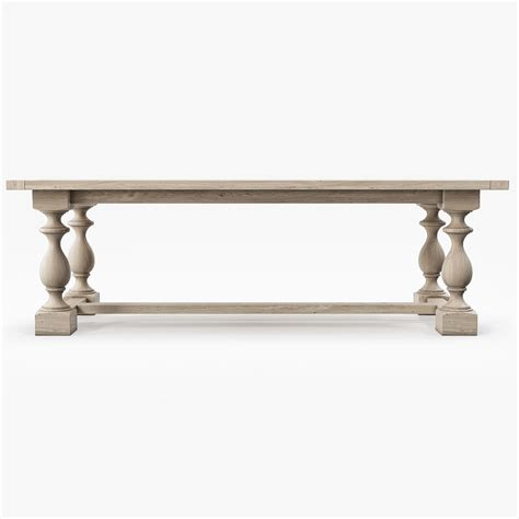 restoration hardware monastery dining table restoration hardware monastery rectangular dining table 3d
