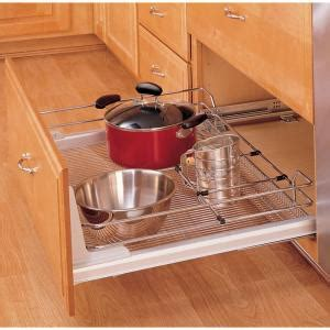 home depot pull out shelves rev a shelf premiere x large pull out chrome basket 5330 33cr the home depot
