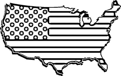 america coloring page black and white american flag clipart clipartsgram