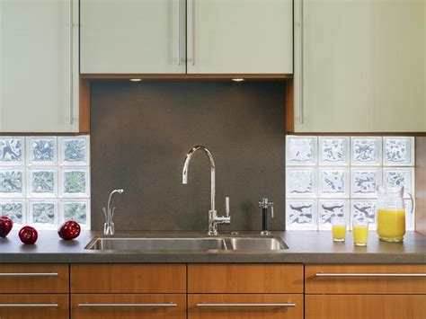 glass block tile backsplash 30 trendiest kitchen backsplash materials page 19