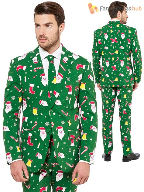 suit for christmas party mens opposuit adults oppo suit festive fancy dress costume ebay