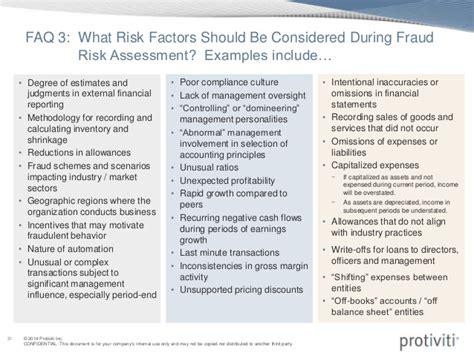 fraud risk assessment template coso webinar slides assessing fraud risk september 2014