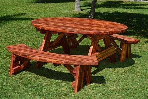 custom picnic tables oval picnic table custom oval shaped wood picnic table