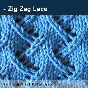 written zig zag crochet pattern zig zag lace free knitted stitch this excellent pattern