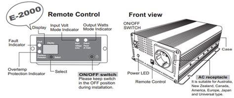 Izzy Power Dc To Ac Car Inverter 2000 Watt 12 Volts Ht M 2000 12 izzy power dc to ac car inverter ht e 2000 12 2000 watt 12 volts professional series